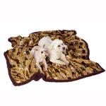 View Image 2 of Ultra Paws My Blankie Waggers Pet Blanket - Tan and Chocolate