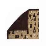 View Image 1 of Ultra Paws My Blankie Waggers Pet Blanket - Tan and Chocolate