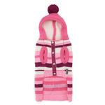 View Image 4 of Uneven Stripes Sweater by Dogo - Pink