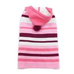 View Image 1 of Uneven Stripes Sweater by Dogo - Pink
