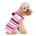 View Image 2 of Uneven Stripes Sweater by Dogo - Pink
