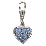 View Image 1 of Unity Collar Charm by Doggles - Pave Blue Heart