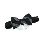 View Image 3 of Dog Bow Tie Collar Attachment by Doggie Design - Black and Silver Stripe