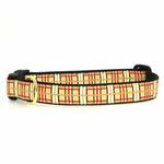 View Image 1 of Up Country Tan Plaid Dog Collar