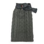 View Image 1 of Urban Cable Scarf Dog Sweater by Dogo - Gray