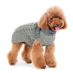 View Image 3 of Urban Cable Scarf Dog Sweater by Dogo - Gray