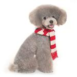 View Image 2 of Urban Stripe Dog Scarf by Dogo - Red
