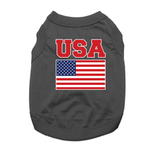 View Image 1 of USA Dog Shirt - Black