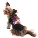 View Image 3 of USA Dog Shirt - Black