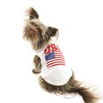 View Image 3 of USA Dog Shirt - White