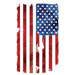 View Image 2 of American Flag Dog Shirt - White