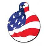 View Image 1 of USA Flag Engravable Pet I.D. Tag - Large Circle