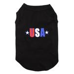 View Image 1 of USA Star Screen Print Dog Tank - Black