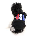 View Image 3 of USA Star Screen Print Dog Tank - Black