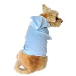View Image 1 of Velour Pullover Dog Hoodie - Light Blue