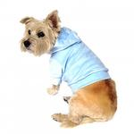 View Image 2 of Velour Pullover Dog Hoodie - Light Blue