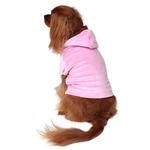View Image 1 of Velour Pullover Dog Hoodie - Light Pink