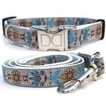 View Image 1 of Boho Morocco Dog Collar and Leash Set by Diva Dog