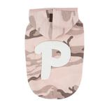 View Image 1 of Veteran Hooded Dog Shirt by Puppia - Pink Camo