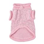 View Image 2 of Heart to Heart Dog Sweater By Oscar Newman - Pink