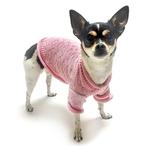View Image 3 of Heart to Heart Dog Sweater By Oscar Newman - Pink