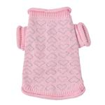 View Image 1 of Heart to Heart Dog Sweater By Oscar Newman - Pink