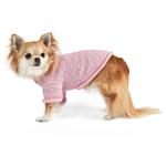 View Image 4 of Heart to Heart Dog Sweater By Oscar Newman - Pink