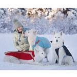 View Image 2 of Vortex Parka Dog Coat - Red and Grey