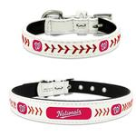 View Image 1 of Washington Nationals Leather Dog Collar