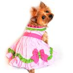 View Image 1 of Watermelon Dog Harness Dress by Doggie Design