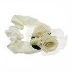 View Image 1 of Up Country Wedding Collection - Cream Velvet Rose Ruffs Neckwear