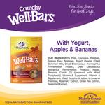 View Image 2 of Wellness Grain-Free Wellbars Crunchy Dog Treats - Yogurt, Apples & Bananas