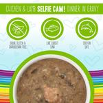 View Image 2 of Weruva BFF OMG! Selfie Cam Wet Cat Food - Chicken & Lamb Dinner in Gravy