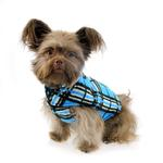 View Image 3 of Whistler Winter Dog Coat - Blue Tartan