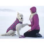 View Image 5 of Whistler Winter Dog Coat - Raspberry Tartan
