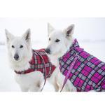 View Image 4 of Whistler Winter Dog Coat - Raspberry Tartan