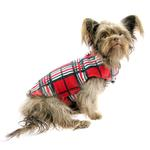 View Image 3 of Whistler Winter Dog Coat - Red Tartan