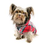 View Image 2 of Whistler Winter Dog Coat - Red Tartan