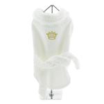 View Image 1 of White Gold Crown Cotton Dog Bathrobe by Doggie Design