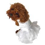 View Image 1 of White Wedding Fufu Tutu Dog Dress