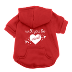 View Image 1 of Will You Be Mine? Dog Hoodie - Red