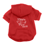 View Image 1 of Wiggle Butt Dog Hoodie - Red