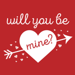 View Image 2 of Will You Be Mine? Dog Hoodie - Red