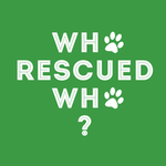 View Image 2 of Who Rescued Who Dog Shirt - Green