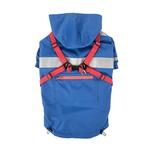 View Image 1 of Wilderness Hooded Dog Raincoat by Puppia Life - Royal Blue