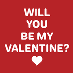 View Image 2 of Will You Be My Valentine Dog Hoodie - Red