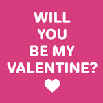 View Image 2 of Will You Be My Valentine? Dog Shirt - Raspberry