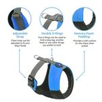 View Image 5 of Gooby Wind Parka Dog Harness - Blue