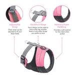 View Image 8 of Gooby Wind Parka Dog Harness - Pink