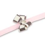 View Image 2 of Windsor Check Nouveau Bow Dog Leash by Susan Lanci - Puppy Pink